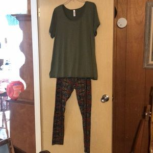 LulaRoe Perfect Tee and Leggings